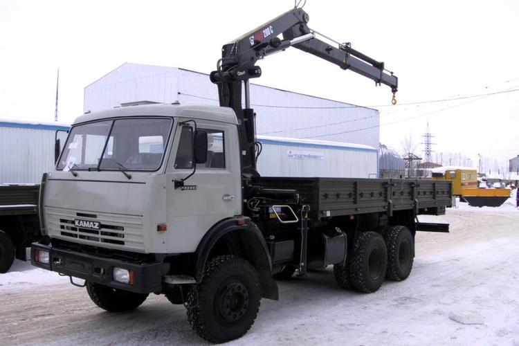 Аренда крана манипулятора на базе автомобиля КАМАЗ 53228
