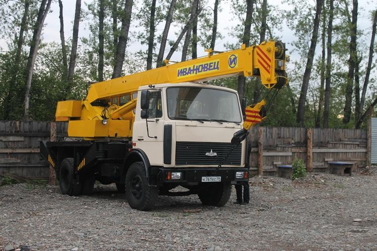 Аренда автокрана МАЗ 14 тонн